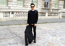 Daniel Diaz - River Island Jumper, Uniqlo Shirt, Topman Jeans, Forever 21 Jacket, New Look Boots, Topman Backpack - Kill 'em with kindness