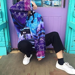 Ellie Nik - Samsara Collections Jersey, Puma Baskets, Asos Culottes - Instatricks