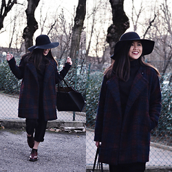 Fae Maaliw - Bershka Hat, Pull & Bear Coat, Zara Bag, Dr. Martens Shoes - Bipolar Sunshine