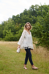 Lauren Wilson - Next Top, Miss Selfridge Jeans, Mango Sandals - Tassels