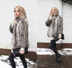 Stryle TZ -  - FAKE FUR JACKET AND FAIR KNIT