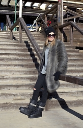 Jovana Radojicic - Sisley Fur Coat, Zara Jeans, Moschino Boots, Ana Z Jewelry Hat, Shein Sweater - ON THE MOUNTAIN