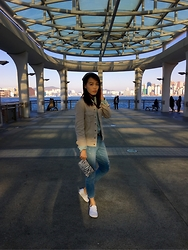 Joyce Tse - Vans White Silp On, Lowrys Farm Boyfriend Jeans, H&M Denim Jacket - MilkMart Day