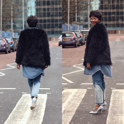 Abi Ogun - Light In The Box Jacket - Double Denim and Faux Fur