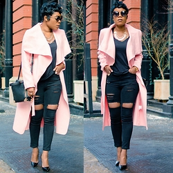Kelly W -  - Pink Coats Are Still The New Neutral Outwear
