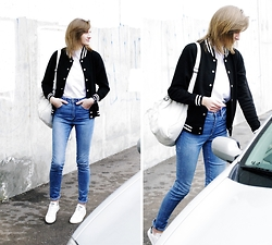 Katarina Vidd - Adidas Stan Smith, All On My Blog - Varsity jacket.