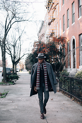 Justin T - Forever 21 Coat, Brixton Hat, Gap Scarf, Zara Trousers, Banana Republic Shoes - Onward