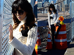 Lovelyimperfect by Adriana Kubieniec - Zara Sweater By, Topshop Pants By, Isabel Marant Boots By, Forever 21 Sunglasses By Forvere21 - Thick Turtleneck Sweater, Brooklyn Bridge, NYC