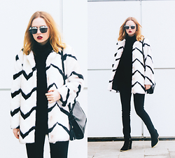 Kristina Magdalina - Poppylovers Coat, Wholesale7 Boots, Zaful Bag - A little bit white.