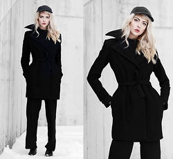 Ebba Zingmark - Golfstrom Coat, Monki Pants, Marc O'polo Boots, Nike Cap - ALL IN OR NOTHING