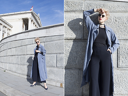 Borjana R. - Sheinside Coat - Blue duster coat