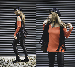 Inês M - Little Mistress Bold Top, Choies Vest, Zara Bag, Zara Boots - Be Bold