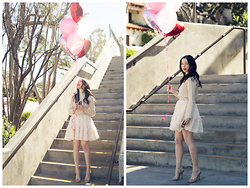 Lisa Valerie Morgan - Pixie Market Dress, Jimmy Choo Sandals - Valentine's Day with Pixie Market