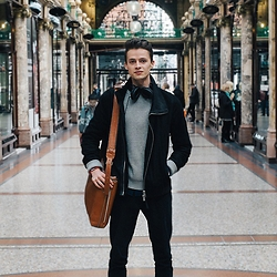 Anton Dee - Zara Jumper, Hard Graft Bag, All Saints Jacket - A Stroll Through Leeds