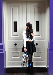 Lauren Evans - H&M Shirt, River Island Skirt, H&M Shoes, China Bag, Accessorize Hairband - Love is All Around.