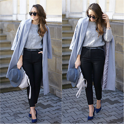 Natalia Przała - Sheinside Gray Coat - Gray and black look