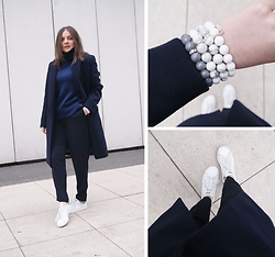 Kasia W - Mypointmystyle Bracelets, Adidas Sneakers - All In Navy