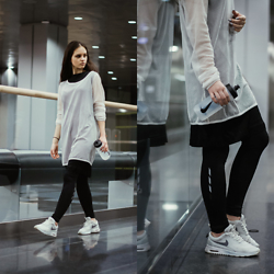 Sofija Lukjanska - Nike Bottle, New Yorker Legging, H&M White Shirt, Nike Sneakers - WEARING NIKE