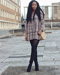 Abi Ogun - New Look Dress - Bohemian Chic