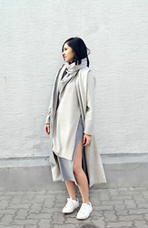 Kat I. - The Sept Scarf, Shein Coat, Shein Sweater, Shein Skirt, Zara Shoes - Mf/021716