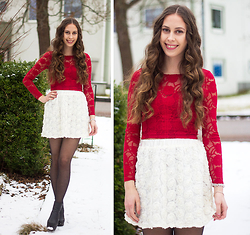 Carina KL - Bikbok Lace Top, Lindex Lace Skirt - Valentinesday outfit