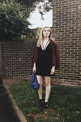 Carla V - Tk Maxx Cut Out Ankle Boots, Asos Leather Backpack, Asos Dress, Vintage Suede Jacket - Summertime sadness