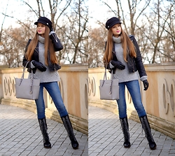 ZOYA Onlymyfashionstyle.blogspot.com - Michael Kors Bag, Gloves, Sweater, Sorel Boots - B & G