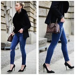 Vanessa Kandzia - Skinny Jeans, Pumps, Skinny Jeans #2, Blazer - PUT ON MY OLD BLUE JEANS