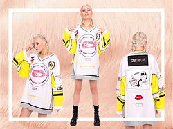 Eros Mortis - W.I.A. Usb Patch Limited Edition Hockey Jersey, Gogo Philip N Prince Gold Chain Choker, Eros Mortis Boots - Anti you and you