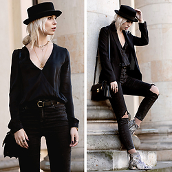Masha Sedgwick - Gauchere Blazer, Saint Laurent Bag - Black Circus