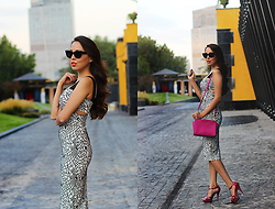 Altynai Imanova - Michael Kors Bag, Asos Sunglasses - Pencil dress
