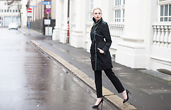 Kim Ahrens - Alba Moda Coat (Alba Moda), Roland Shoes (Roland) - Look good on a rainy day