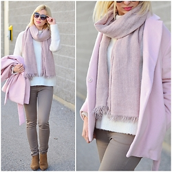 Tatiana M - Gap Coat, Zara Pants, Chapters Indigo Scarf, Gap Boots, Anthropologie Sweater - Sweet & Soft