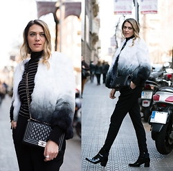 Vanessa Basanta - Lio De Faldas White And Black Fur - City Gal