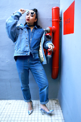 Leentokyo Hyh - Asos Denim Jacket, Asos Denim Jumper - FULL ASOS