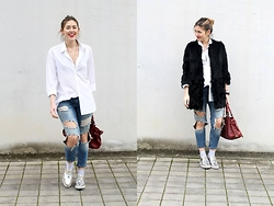 Amy Ramírez - Sfera Coat, Zara Jeans - The boy and destroyed
