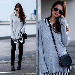 Jacky - Asos Sweater, Gina Tricot Jeans, Zerouv Sunglasses, Rebecca Minkoff Bag - Off Duty