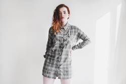 Rachel Ecclestone - Noisy May Checkered Shirt, Happiness Boutique Necklace - CLEAN CUT