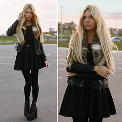 Ekaterina Normalnaya - Leather Lacket, Black Skirt - ▲