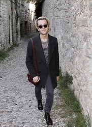 Gio' Mori - Giorgio Armani Sunglasses, Missoni Sweater, Isabel Marant Coat, The Cambridge Satchel Company Bag, Acne Studios Skinny Jeans, Tommy Hilfiger Boots - Middle Age #Rhodes, Greece