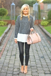 Martina Reynolds - Sheinside Frill Top, Forever 21 Leather Leggings - Frill Seeker