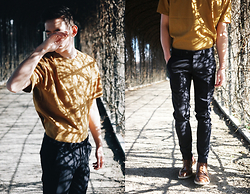 Frank Lin - H&M Mustard Yellow Shirt, Digel Blue Pants, Lloyd Brown Budapester - Shadowplay.