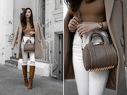 Willabelle Ong - Alexander Wang Mini Rockie Bag In Latte And Rose Gold - Latte