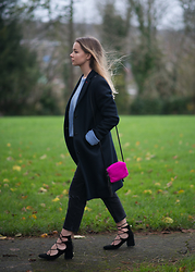 Lauren Wilson - Marks & Spencer Jumper, Uniqlo Coat, Asos Bag, Asos Jeans, Zara Shoes - Powder blue
