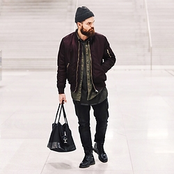 Luca Andrea - H&M Bomber, Pri Bag - TRAINSTATION