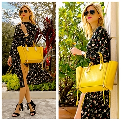 Amanda Tur - Topshop Dress, Henri Bendel Bag, Traffic Shoes, Daniel Wellington Watch, Ray Ban Sunnies - Chartreuse Beauty