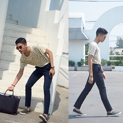 Krikkhit Buntong - H&M Pants, Uniqlo T Shits, Lacoste Silp On Shoes - 26022016