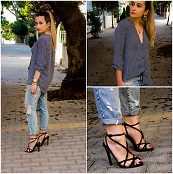 Maria M. - H&M Shirt, Zara Jeans, Topshop Heels - Night out.