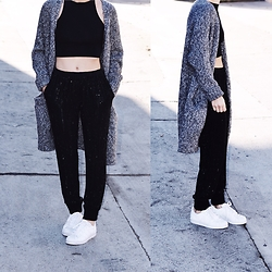 Lauren - Adidas Sneakers, L'agence Track Pants - Sparkles on a Friday