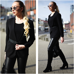 Vanessa Kandzia - Blazer, Waist Belt, Leather Pants - BAZER & WAIST BELT